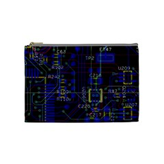 Technology Circuit Board Layout Cosmetic Bag (medium)