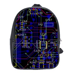 Technology Circuit Board Layout School Bags(large)  by BangZart