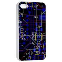 Technology Circuit Board Layout Apple Iphone 4/4s Seamless Case (white) by BangZart