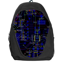 Technology Circuit Board Layout Backpack Bag by BangZart