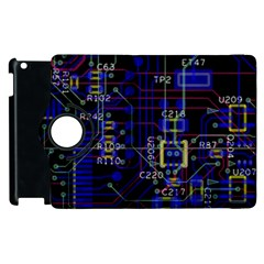 Technology Circuit Board Layout Apple Ipad 2 Flip 360 Case by BangZart