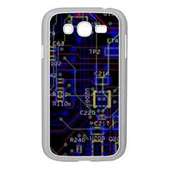 Technology Circuit Board Layout Samsung Galaxy Grand Duos I9082 Case (white) by BangZart