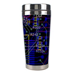 Technology Circuit Board Layout Stainless Steel Travel Tumblers by BangZart