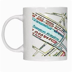 Paris Map White Mugs