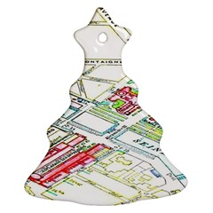 Paris Map Christmas Tree Ornament (two Sides) by BangZart