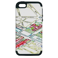 Paris Map Apple Iphone 5 Hardshell Case (pc+silicone) by BangZart
