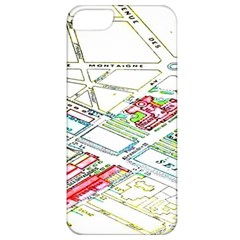 Paris Map Apple Iphone 5 Classic Hardshell Case by BangZart