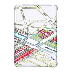 Paris Map Apple Ipad Mini Hardshell Case (compatible With Smart Cover) by BangZart