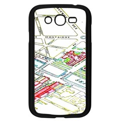 Paris Map Samsung Galaxy Grand Duos I9082 Case (black) by BangZart