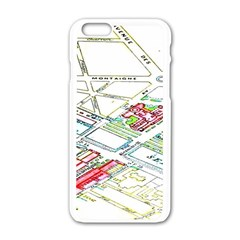 Paris Map Apple Iphone 6/6s White Enamel Case
