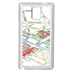 Paris Map Samsung Galaxy Note 4 Case (white) by BangZart