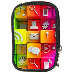 Colorful 3d Social Media Compact Camera Cases by BangZart