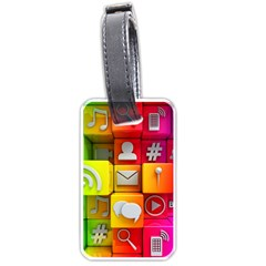 Colorful 3d Social Media Luggage Tags (one Side)