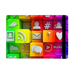 Colorful 3d Social Media Apple Ipad Mini Flip Case