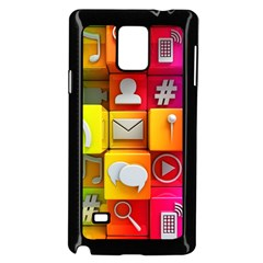 Colorful 3d Social Media Samsung Galaxy Note 4 Case (black)