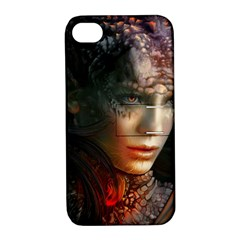 Digital Fantasy Girl Art Apple Iphone 4/4s Hardshell Case With Stand