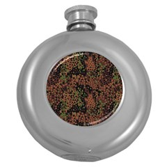 Digital Camouflage Round Hip Flask (5 Oz) by BangZart