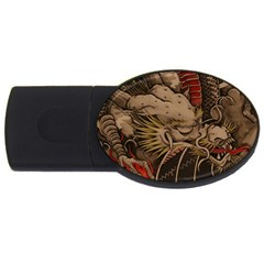 Chinese Dragon Usb Flash Drive Oval (4 Gb) by BangZart