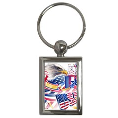 United States Of America Usa  Images Independence Day Key Chains (rectangle)
