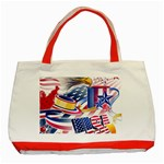 United States Of America Usa  Images Independence Day Classic Tote Bag (Red) Front