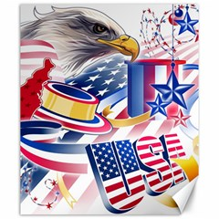 United States Of America Usa  Images Independence Day Canvas 20  X 24