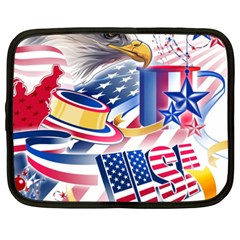 United States Of America Usa  Images Independence Day Netbook Case (xxl)