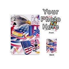 United States Of America Usa  Images Independence Day Playing Cards 54 (mini)  by BangZart