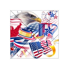 United States Of America Usa  Images Independence Day Acrylic Tangram Puzzle (4  X 4 )