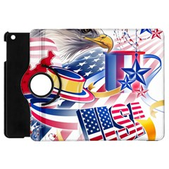 United States Of America Usa  Images Independence Day Apple Ipad Mini Flip 360 Case