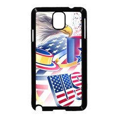 United States Of America Usa  Images Independence Day Samsung Galaxy Note 3 Neo Hardshell Case (black) by BangZart