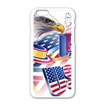 United States Of America Usa  Images Independence Day Apple iPhone 6/6S White Enamel Case Front