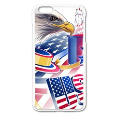 United States Of America Usa  Images Independence Day Apple Iphone 6 Plus/6s Plus Enamel White Case