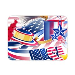 United States Of America Usa  Images Independence Day Double Sided Flano Blanket (mini)  by BangZart