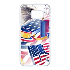 United States Of America Usa  Images Independence Day Samsung Galaxy S7 Edge White Seamless Case by BangZart