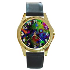 Full Colors Round Gold Metal Watch