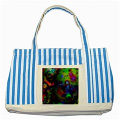 Full Colors Striped Blue Tote Bag