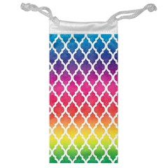 Colorful Rainbow Moroccan Pattern Jewelry Bag