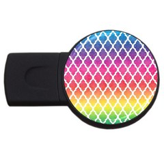 Colorful Rainbow Moroccan Pattern Usb Flash Drive Round (4 Gb)