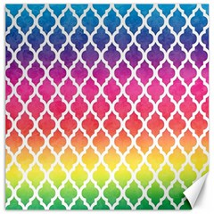Colorful Rainbow Moroccan Pattern Canvas 16  X 16   by BangZart