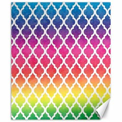 Colorful Rainbow Moroccan Pattern Canvas 20  X 24   by BangZart