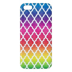 Colorful Rainbow Moroccan Pattern Apple Iphone 5 Premium Hardshell Case by BangZart