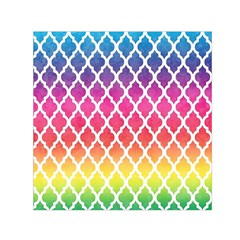 Colorful Rainbow Moroccan Pattern Small Satin Scarf (square)