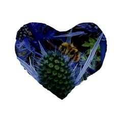Chihuly Garden Bumble Standard 16  Premium Flano Heart Shape Cushions