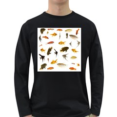 Goldfish Long Sleeve Dark T Shirts