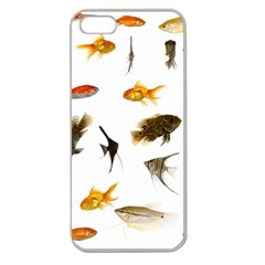 Goldfish Apple Seamless Iphone 5 Case (clear)