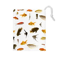 Goldfish Drawstring Pouches (large)  by BangZart