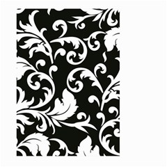 Vector Classicaltr Aditional Black And White Floral Patterns Large Garden Flag (two Sides) by BangZart