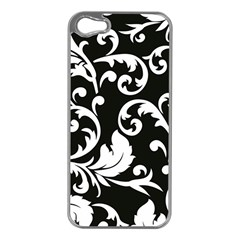 Vector Classicaltr Aditional Black And White Floral Patterns Apple Iphone 5 Case (silver)