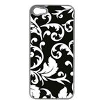 Vector Classicaltr Aditional Black And White Floral Patterns Apple iPhone 5 Case (Silver) Front