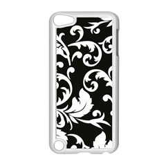 Vector Classicaltr Aditional Black And White Floral Patterns Apple Ipod Touch 5 Case (white)